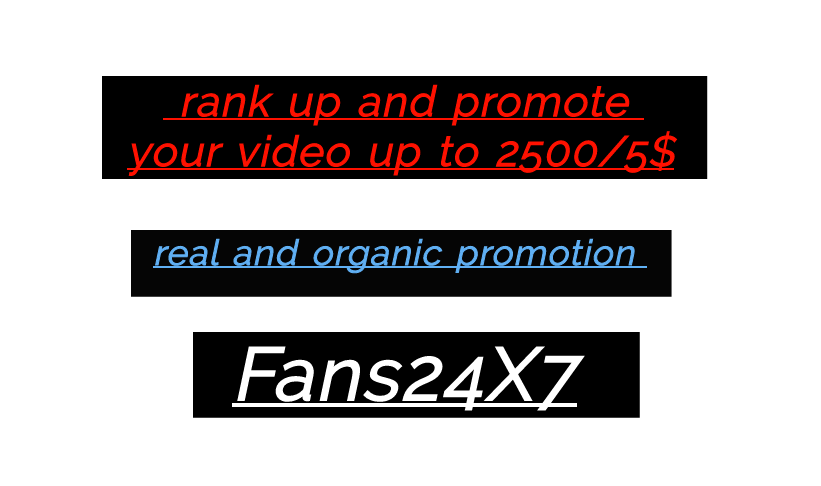 rank and promote  your video up  without dropout 100% guarantee