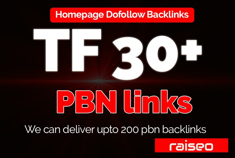 Provide you 30+ TF CF Pbn Dofollow Homepage backlinks