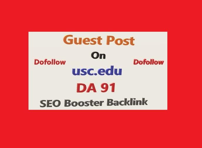 Write and Publish Edu Guest Posts on - Usc. Edu