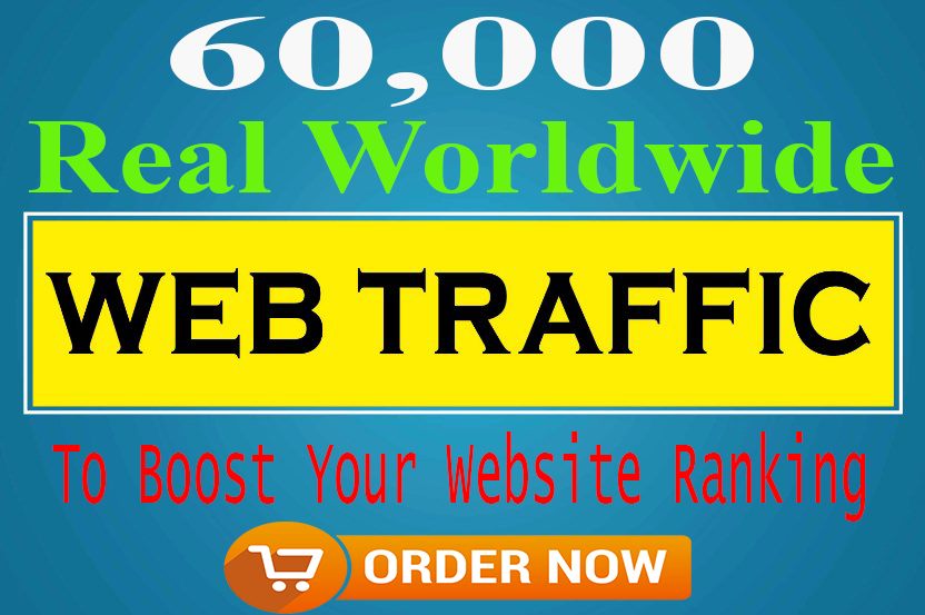 HQ 60,000+ Organic real traffic with worldwide visitors
