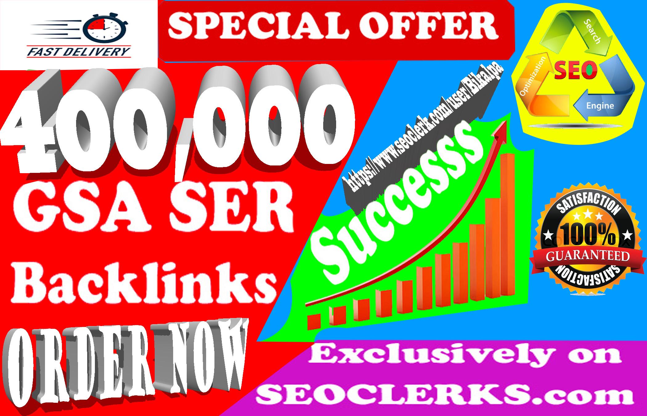 400,000 Gsa Ser Backlinks For Ranking Website,  youtube