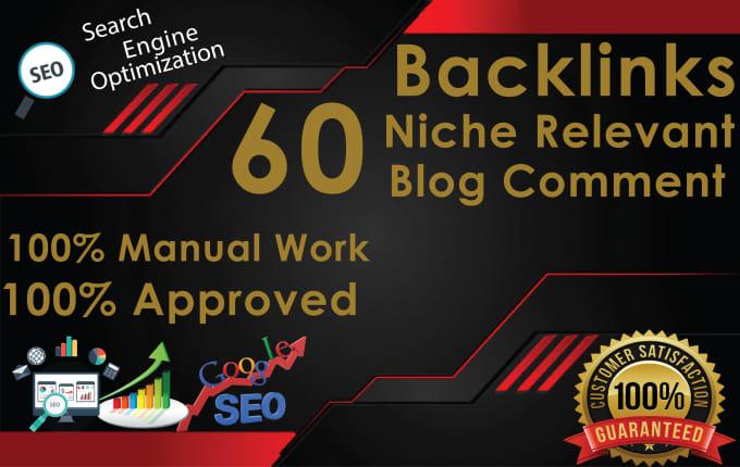 Do 60 Niche Relevant Blog Comment