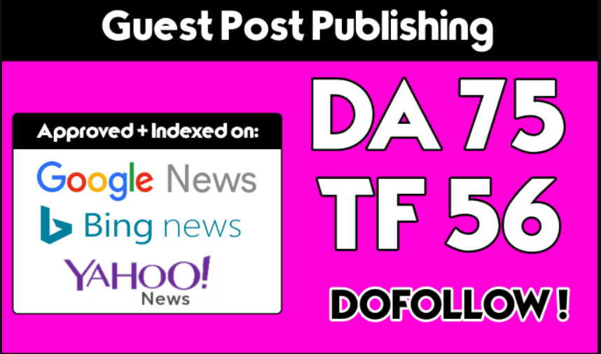 Write and Publish On TECH News Site With Dofo0llow Link DA 75