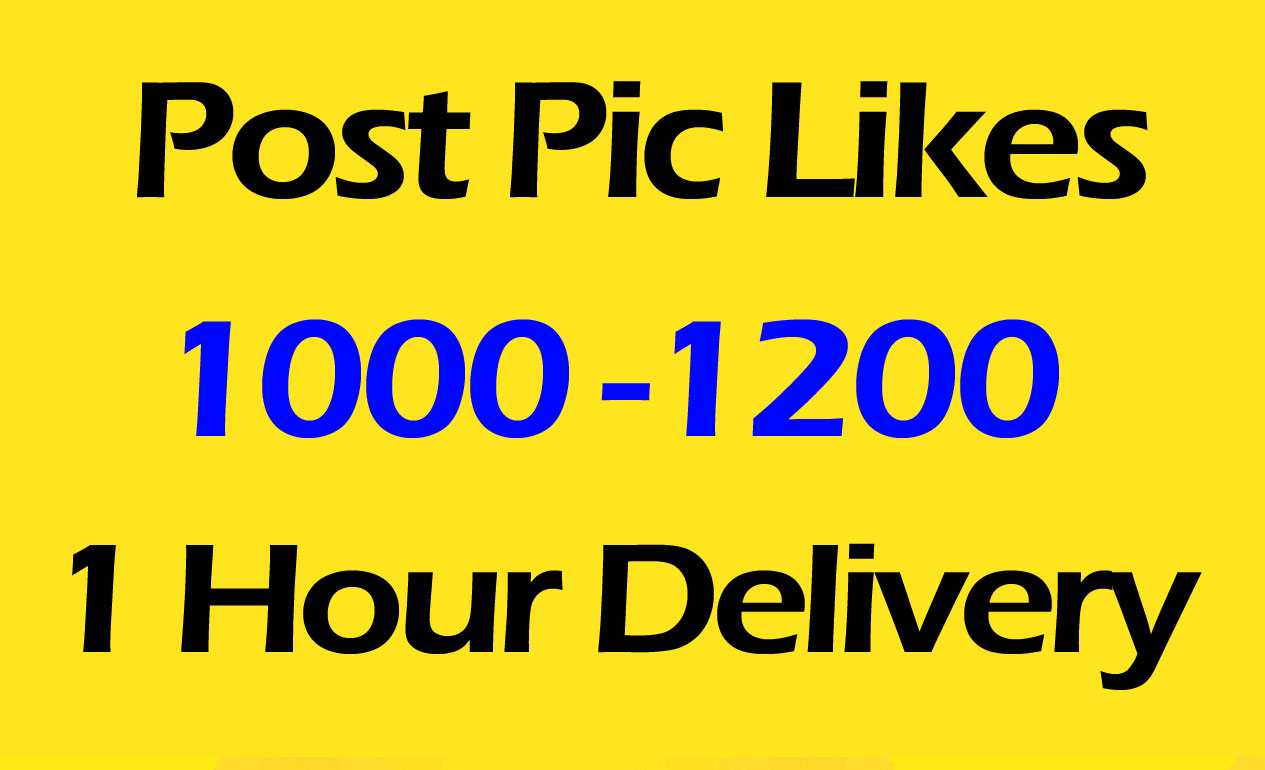 1000 Fast Social Pictures Post Promotion and Marketing in 24 Hours