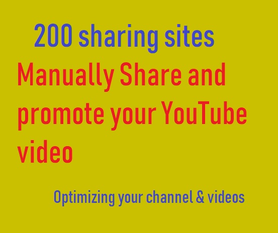 Manually Share and promote your YouTube video in 200 sharing sites
