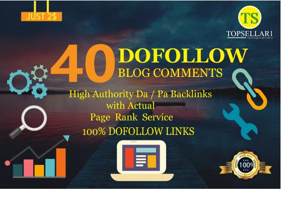 Create Unique domain 40 High Pr Dofollow Banklinks Blogcomments PR2 to PR7
