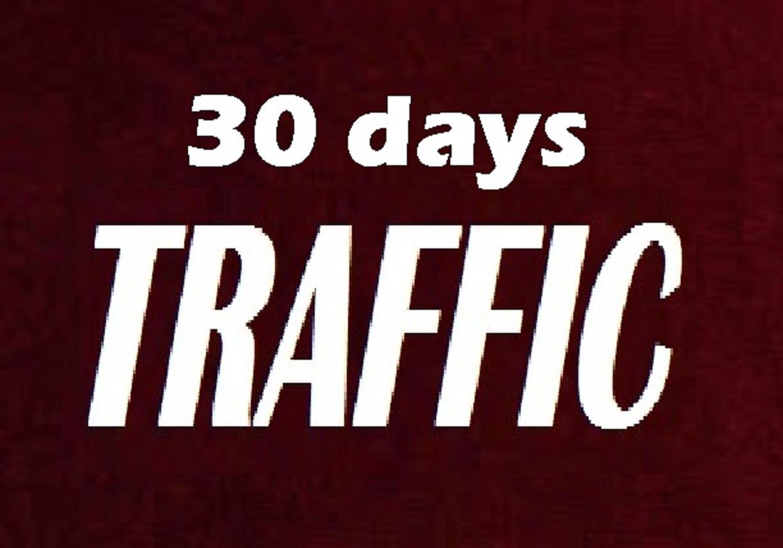 deliver 30 days Human real TRAFFIC to your Link / Shop / blog / website