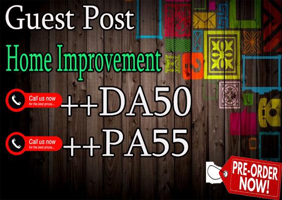 do guest post on DA50 hq home improvement blog