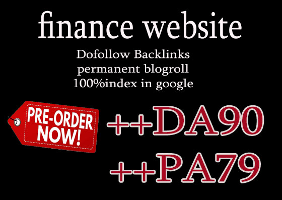 Give you backlinks Da90x25 site finance blogroll permanent