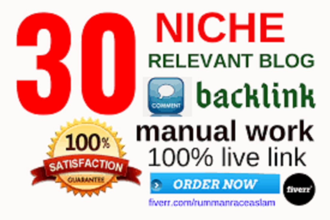 Do 30 Niche Relevant Manually Blog Comments