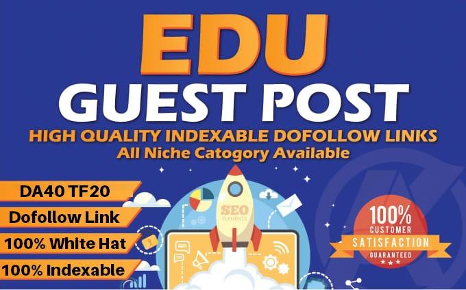 . EDU Guest Posting - Publish Guest Post on DA40. edu domain site