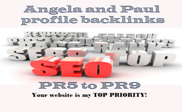 I will do 20 Paul And Angela Profile Back Links