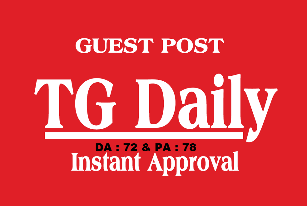 Write a High-Quality Article and Publish it on TgDaily. com