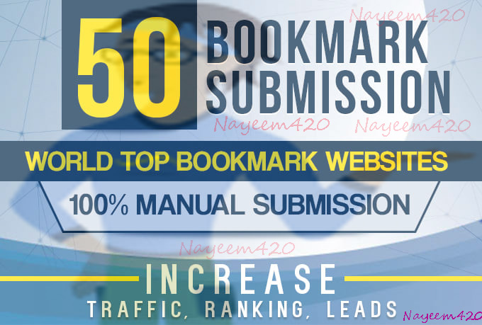 manually 100+ bookmark submission backlinks,  high pa da