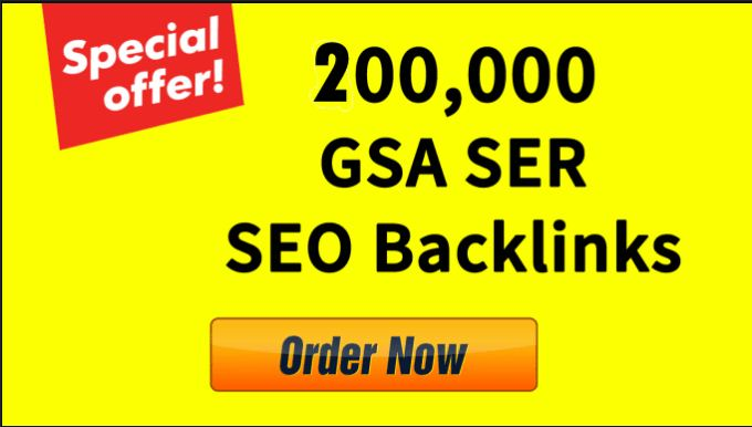 Create 200,000 GSA SER SEO Backlinks