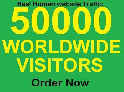 send 50000 unlimited keyword target website visitors
