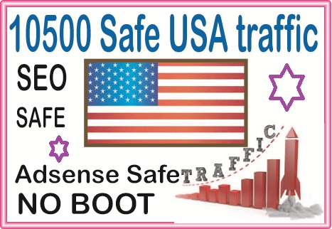 10500 USA Safe organic Traffic from social & organic Web Visitors from main search engines