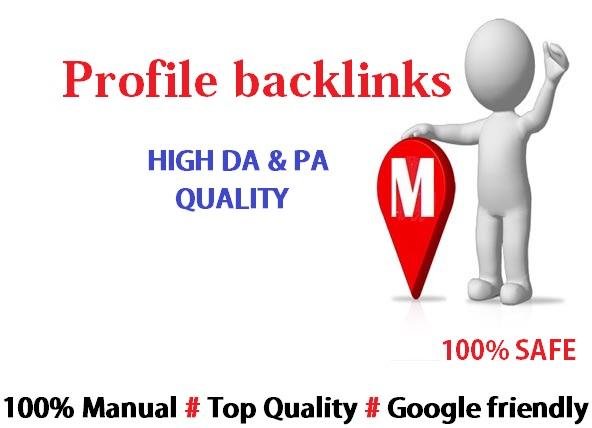 Give You 65 High Quality Profile Backlinks