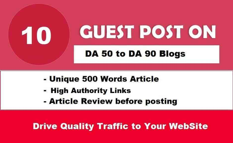 Write and Publish 10X EDU Guest Posts DA 60-90+ with High Authority Backlinks Limited Offer