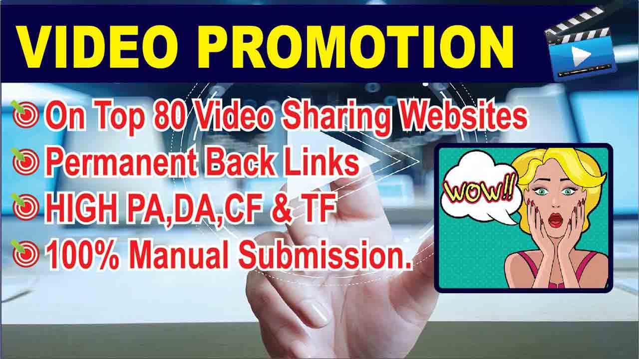 Manually upload or share your video on Top 80 Video submission sites