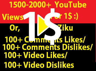 Instant Start 1500-2000+ Views for your YouTube Video with 5 likes