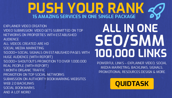 PUSH YOUR RANK & SERP - 100,000+ Links - Video creation,  Backlinks,  Signals,  Traffic,  Marketing and Promotion on Social Media