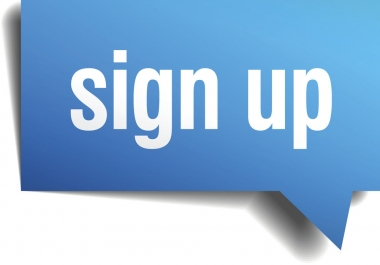 urgently need 5 simple sign ups for a mail service