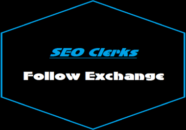 Follow Me Here On SEO Clerks & I WIll Follow You Back