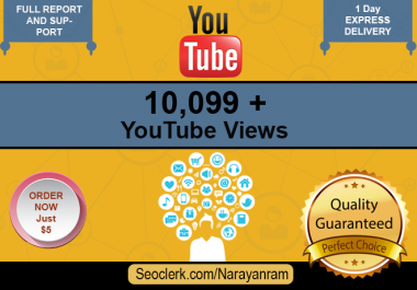 10099 to 11099+ Fast YouTube Views Only for 5