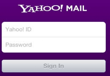 Want 100 yahoo accounts provide with passwords