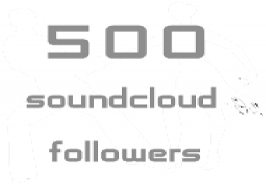 Need 500+ Permanent soundcloud folloers