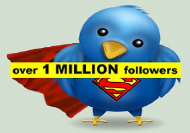 1 million twitter followers with bio/pictures/for one account