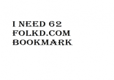 Need 62 folkd bookmark