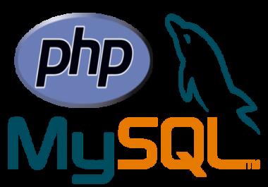 Develop website PHP and Mysql