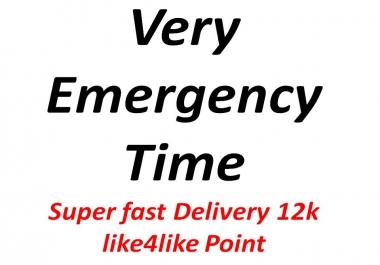 Need like4like 12k one acc poina with 1min