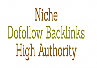 100 Niche Dofollow Backlinks