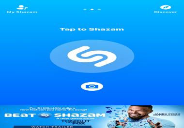 Need Shazam plays and followers