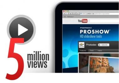 5 Million Youtube Views - With No Drop Warranty