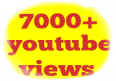 Need 7,000 Youtube Views