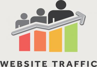 Send 10000 Human Traffic No Bots Real Visitors for 3