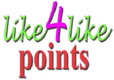 6000 Like4Like Points