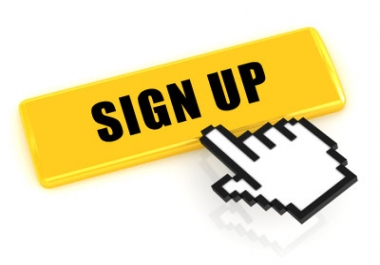 Looking for buying 40 sign ups. Real people and active to sign up on my site