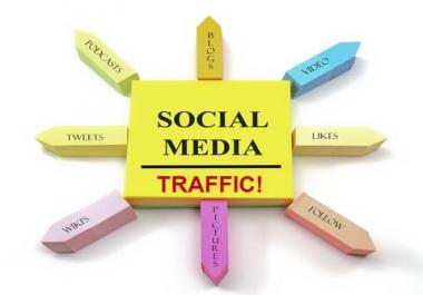 Need 250k mixed social media traffic on 99 URLs