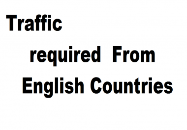 Traffic required for 10 links from English countires USA Major