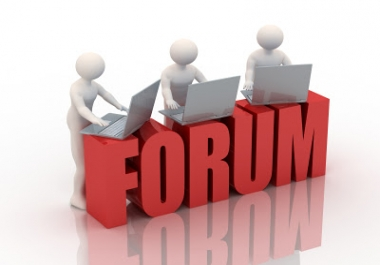 Want Forum Posting Service