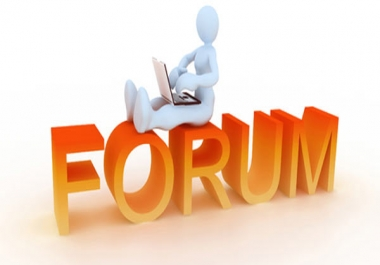 I need 33 forum posts on a single forum