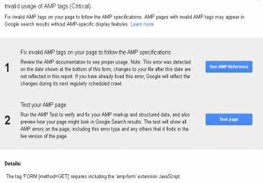 html,  and amp errors