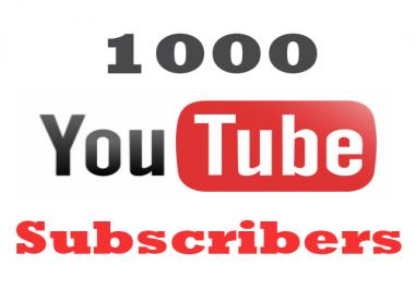 I need 1000+ Nondrop Youtube Subs cribers