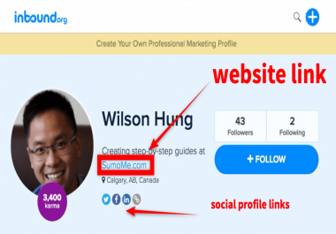I am looking for someone who can create profile links on provided 50 URLS