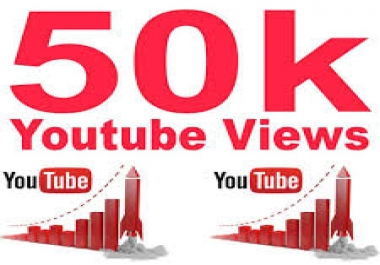 Need 50,000 YouTube Views from English speaking counties